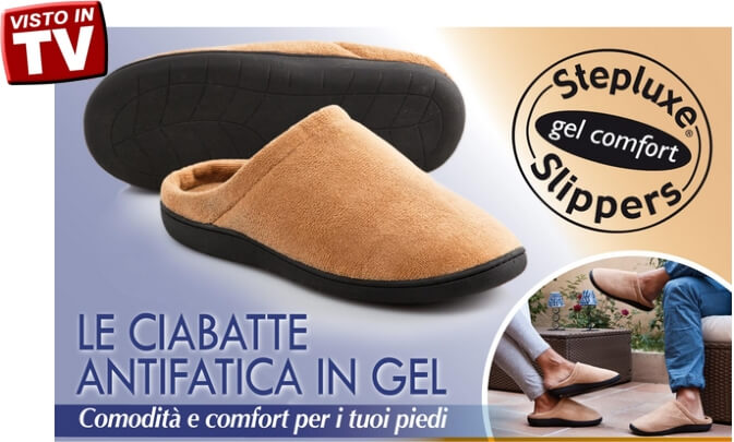 ciabatte antifatica in gel STEPLUXE SLIPPERS